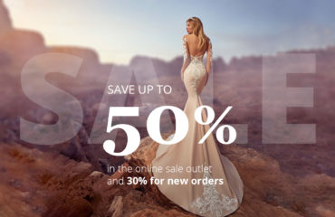 Discounts up to 50 percent on bridal and evening dress